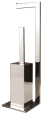 Stainless Steel Standing Paper and Toilet Brush Holder